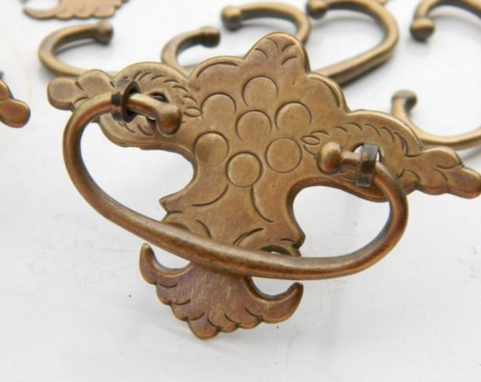 Fancy Vintage Brass Keyhole Escutcheon Plates & Drawer Pulls