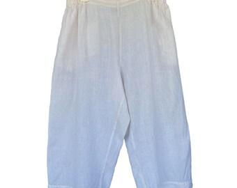 FLAX Designs Flat Front Pant -1G/1X- Cream Linen