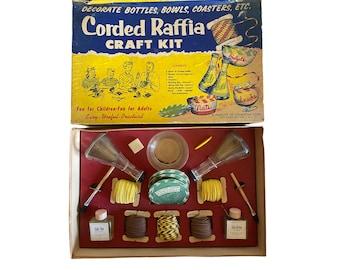 Vintage 1950s Corded Raffia Craft Kit