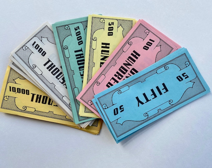 Vintage Pretend Play Money - Fifty Hundred Thousand