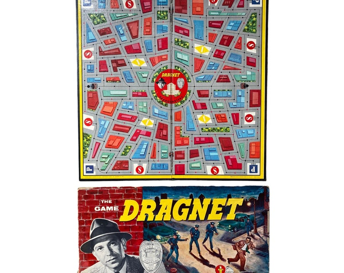 1950s Dragnet Game Board and Box Cover