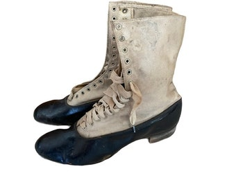 Edwardian Leather and Canvas Boots