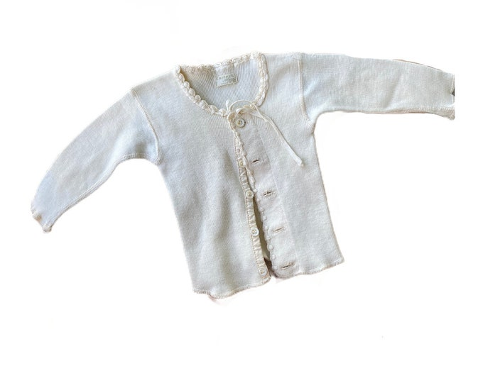 Vintage Carter's Alma Ribbed Cotton Cardigan Shirt Jacket