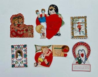Lot of 6 Vintage Valentines
