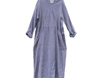 RESERVED for KIM FLAX Engelhart Basic 2001 Right Angle Dress -L- Purple Haze Linen
