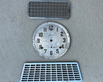 Found Object Lot #1 Clock Face and Grates