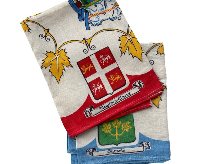 Pair of Canada Theme Irish Linen Kitchen Towels