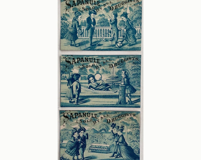 Trio of Sapanule Trade Cards SPCA