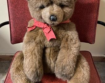 "Vintage 1986 Avarti Stuffed Brown Bear #1066 22"""