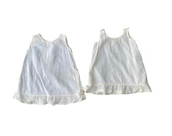 Pair of Vintage Cotton Child's Slips