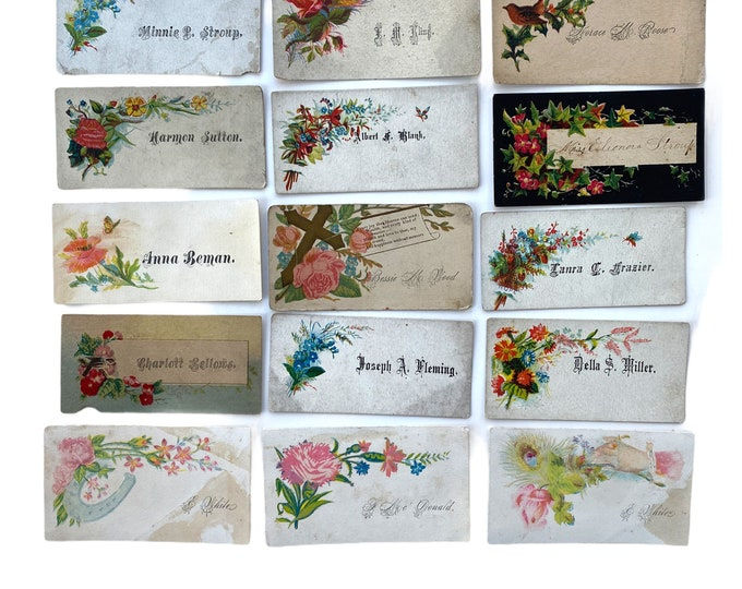 Victorian Calling Cards - Lot of 12