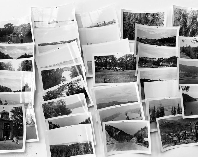 Collection of 30 Black and White Vacation Photographs from the mid 1960s