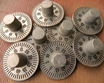 Lot of 8 Post Office Box Numbered Dial Knobs