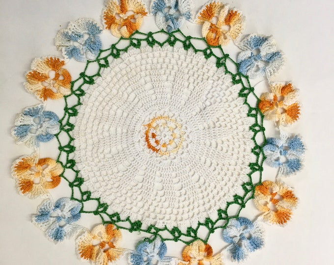 Colorful Flower Doilies