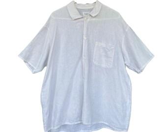 FLAX Engelhart Basic 1993 Camp Shirt -M- White Linen