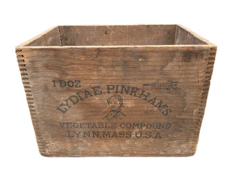 Lydia Pinkham's Vegetable Compound Antique Wooden Crate