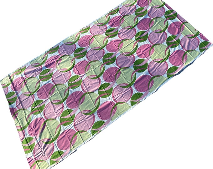 "Braemore Design Screen Print Home Decor Fabric Bold Pink and Green 117"" x 56"""