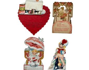 Lot of 4 Vintage Valentines
