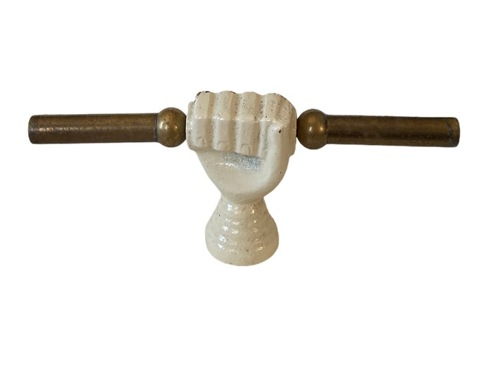 Oddfellows Cast Iron and Brass Hand Fixture Fragment