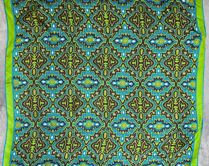 "Vintage Vera Scarf 23"" Square Rayon/Silk Handrolled Japan"
