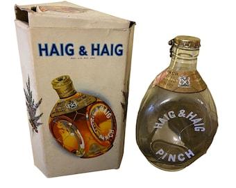 Vintage Haig & Haig Dimple Pinch Scotch Whisky Bottle and Box