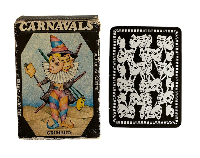 French Carnavals Grimaud Illustrated Playing Cards