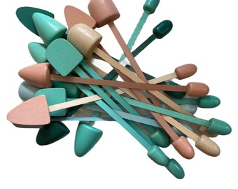 Collection of 15 Vintage Pastel Shoe Stretchers
