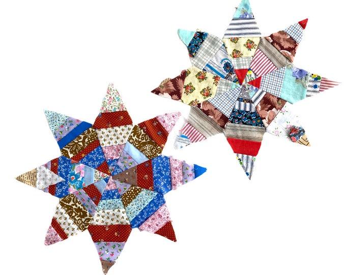 Pair of Star Quilt Blocks