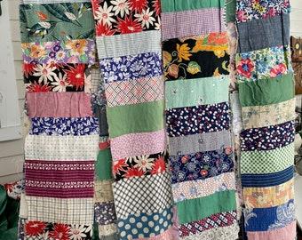 4 Vintage Quilt Work In Progress Strips