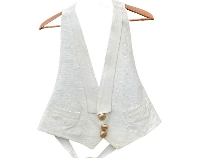 Edwardian Formal White Vest