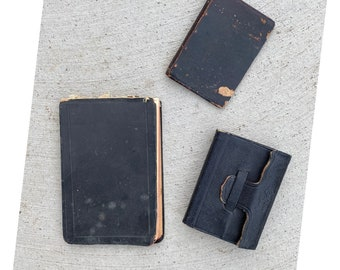 Collection of 3 Vintage Notepads Journals Notebooks