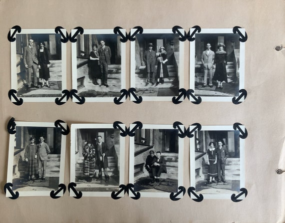 Cornell 1920s 8 Photo Scrapbook Page