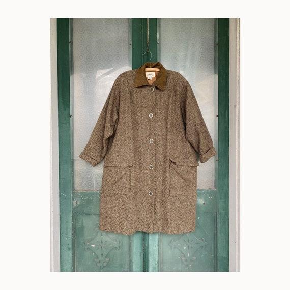 Flax by Jeanne Engelhart Fall 1997 Grandpa's Coat -L- Cobblestone Wool Blend