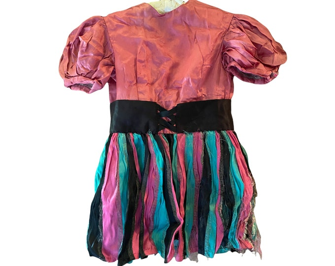 Vintage Girls Satin Tap Dance Costume