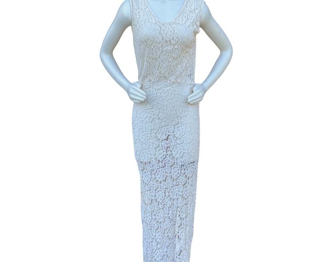 Vintage Lace Dress Long and Slender
