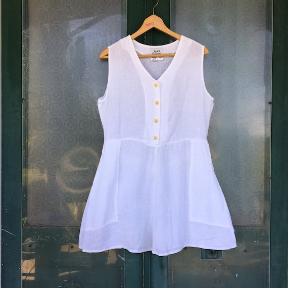 FLAX Engelhart Summer Play Dress -S- White Hank