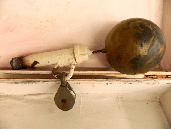 Vintage Flag Pole End with Brass Ball