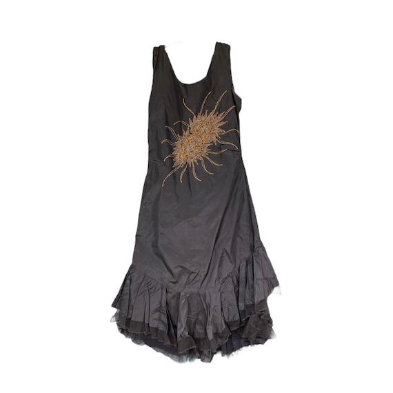 Vintage 1920s Flapper Dress with Soutache Embellis