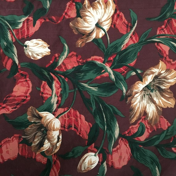 Flamboyant Floral Reclaimed Drapery Fabric 4 yds x 3 yds
