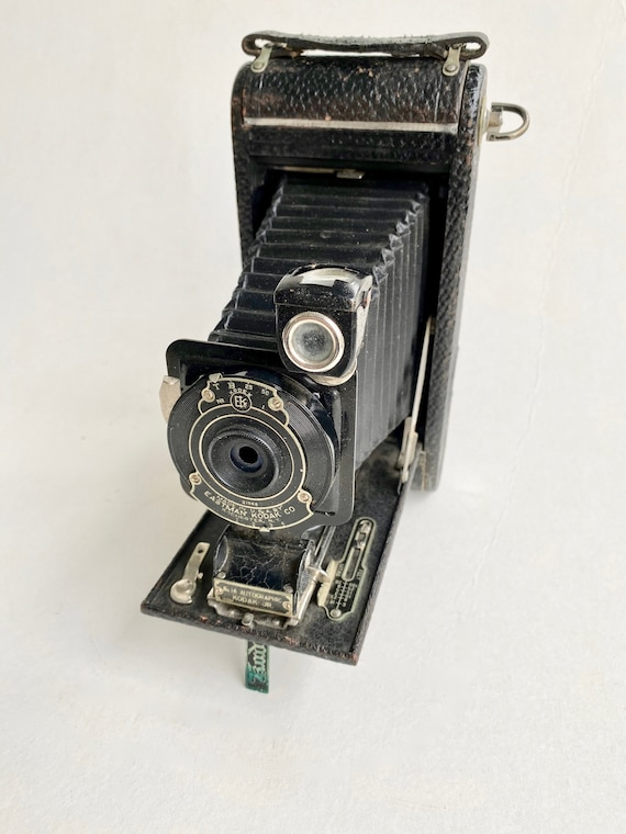 Kodak 1A Autographic Junior Camera 1910s in Leather Case