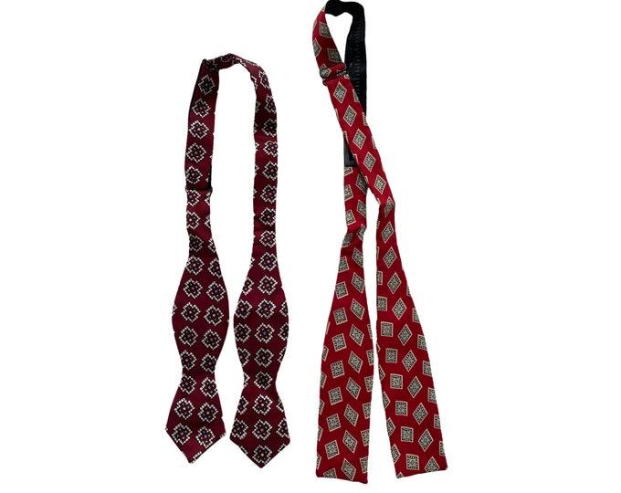 Pair of Vintage Mens Neckwear Ties Cravats