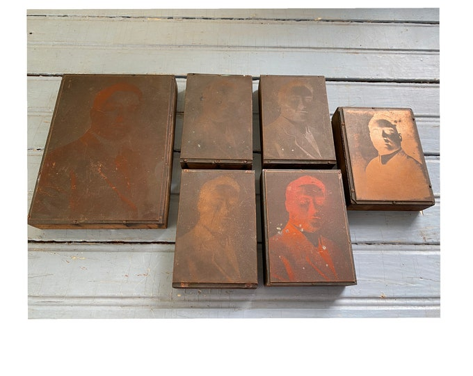 Collection of 6 Copper Printing Plates