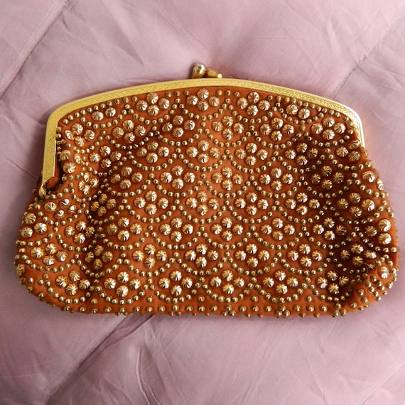 Vintage Copper & Gold Clutch Purse