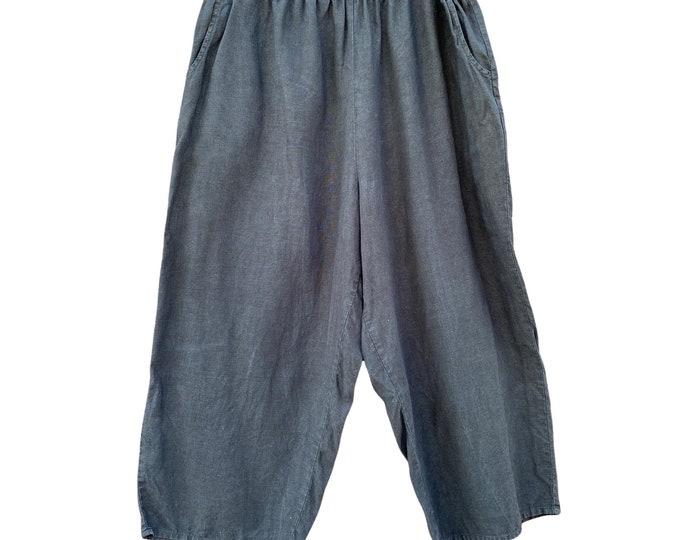 FLAX Designs Flood Pants -1G/1X- Black Linen