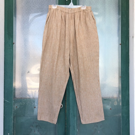 FLAX Engelheart Basic 2000 Straight Pants -L/XL- Onion Linen