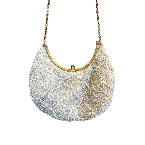 Vintage Pearly Seed Bead and Sequin La Regal Handbag