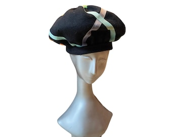 Vintage Yves Saint Laurent Wool Felt Beret Hat