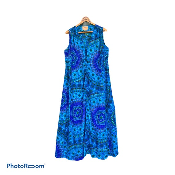 Vintage Waltah Clarke's Hawaiian Shop Long Dress