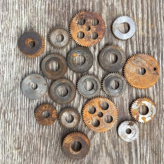 Lot of 18 Various Metal Machine Gears