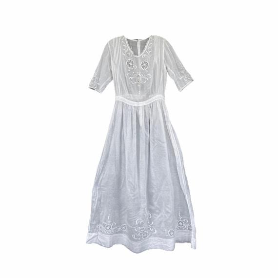 Vintage Edwardian Cotton Lawn Dress